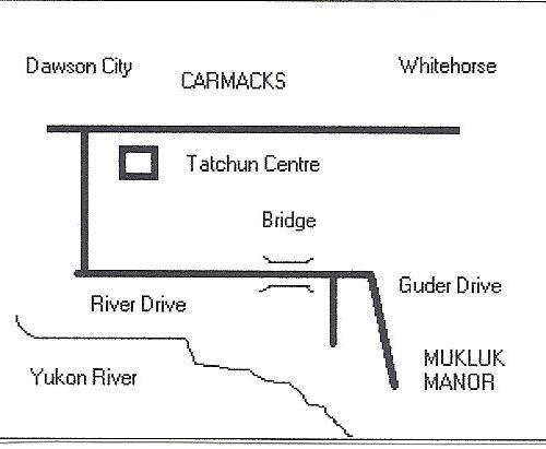 Map to Mukluk Manor from Highway